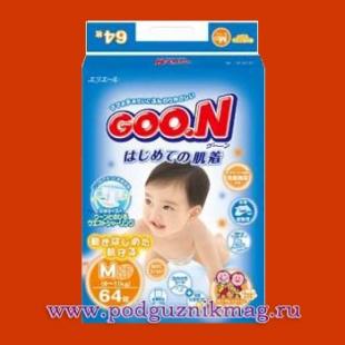 Подгузники (Goon (Гун)) 6-11 кг. 64 шт. (M)