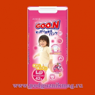 Трусики для девочек (Goon (Гун)) 9-14 кг. 44 шт. (L)