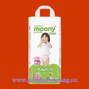 Трусики для девочек (Moony (Муни)) 12-17 кг. 36 шт. (BIG)