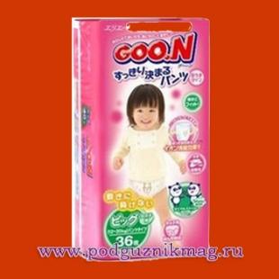 Трусики для девочек (Goon (Гун)) 12-20 кг. 38 шт. (BIG)