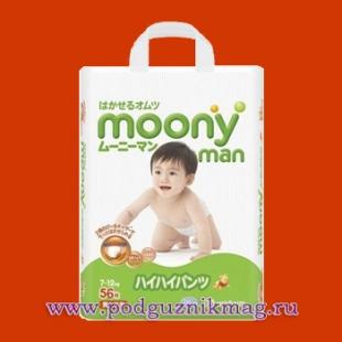 Трусики для детей (Moony (Муни)) 7-12 кг. 56 шт. (M)