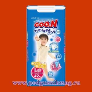 Трусики для мальчиков (Goon (Гун)) 9-14 кг. 44 шт. (L)
