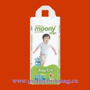 Трусики для мальчиков (Moony (Муни)) 12-17 кг. 36 шт. (BIG)